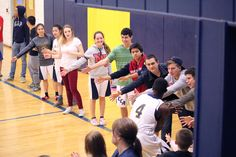 Canyonville Christian Academy's Student Body cheers on their teams before the games start