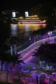 Sanya celebrates the International lights festival.