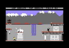 Scene from Bruce Lee, Commodore 64, 1984. An addictive and very playable game by Ron J. Fortier.