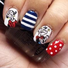 popeye  by just_alexiz  #nail #nails #nailart