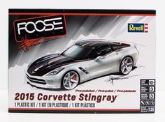 This is a 2015 Chevy Corvette Stingray car model kit by Revell in 1/25 scale. - Detailed LT1 V-8 engine - Chip Foose inspired painted body New and sealed.                                                                                                                                                      More