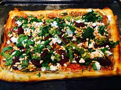 What's for Dinner – Beetroot and Feta Filo Pizza