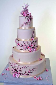 Spring wedding cake blossom ♥ - - - The Effective Pictures We Offer You About wedding cakes spring blue A quality picture can tell you m Elegant Wedding Cakes, Beautiful Wedding Cakes, Gorgeous Cakes, Wedding Cake Designs, Pretty Cakes, Trendy Wedding, Cake Wedding, Wedding Ideas, Wedding Themes