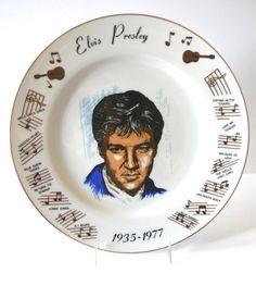 """Elvis Presley COLLECTOR PLATE 1935-1977 Elvis's Songs Music Notes 10 1/4"""" Japan"""