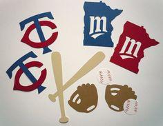Minnesota Twins Baseball Scrapbook Cutouts - 28 Piece Set by HookedonArtsNCrafts $6.00
