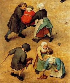 Pieter Brughel the Elder Detail from the BEYONNND UBER FAMOUS CHILDRENS GAMES EVERYONE BE KNOWING ABOUT SINCE CHILDHOOD FYI