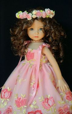 "My Sweet May Flower OOAK Ensemble for Effner 13"" Little Darling ~ by Gloria"
