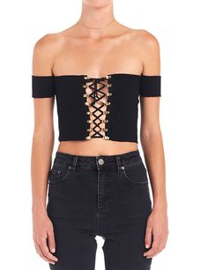 OMG Gianna Ribbed Off... Shop Now! http://www.shopelettra.com/products/gianna-ribbed-off-the-shoulder-lace-up-crop-top?utm_campaign=social_autopilot&utm_source=pin&utm_medium=pin