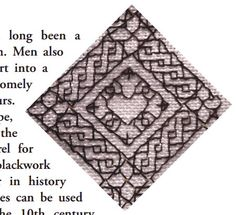 Blackwork Embroidery Tutorial | Blackwork embroidery, at its most basic, is black embroidery on while fabric... Much blackwork is composed of geometric, counted stitches, but it can also be free-form.