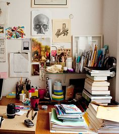 resembles my desk... lol filled over the top with stuff