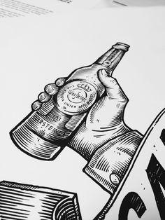 Cheers!  illustration for seventyfive Rotterdam.  #warsteiner #seventyfive #illustration #cheers