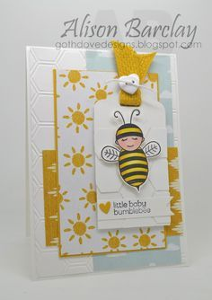 baby bumblebee stampin up | Alison Barclay - Stampin' Up! Australia - Stampin' Up! Baby Bumblebee ...