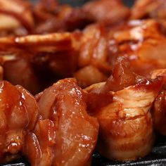 Teriyaki Chicken Skewers Recipe by Tasty Teriyaki Chicken Skewers, Bbq Skewers, Veggie Skewers, Kabobs, Chicken Bacon, Bbq Chicken, Chicken Recipes, Grilling Recipes, Cooking Recipes