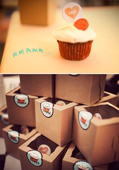 Packing design for individual cupcakes :-) love the clear windows