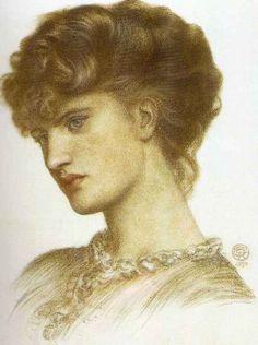 Pre Raphaelite Art: Dante Gabriel Rossetti - Portrait of a Lady