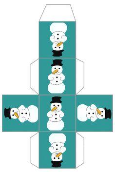 Ganz viele schön gestaltete Weihnachts-Verpackungen und -hüllen zum Ausdrucken - gefunden auf lascosasdemariaayamontino.blogspot.com.es