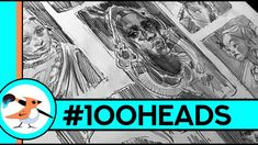 Have you heard about this latest trend among artist? First of all, what's the 100 Heads Challenge?I'll give you some tips for you if you want to jump in! Art Challenge, Drawing Challenge, Drawing Heads, Nose Drawing, Drawing Stuff, Figure Drawing, Drawing Reference, Ahmed Aldoori, How To Make Henna