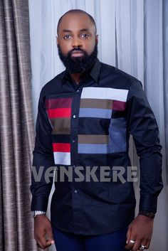 Ace menswear fashion designer Vanskere is out with its new classic collection. The signature style of Vanskere is made bold in these designs for the - BellaNaija Style. African Shirts For Men, African Dresses Men, African Clothing For Men, Latest African Fashion Dresses, African Print Fashion, Africa Fashion, African Attire, African Wear, African Women