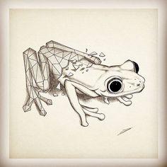 #Frog #NextTattoo #Geometric