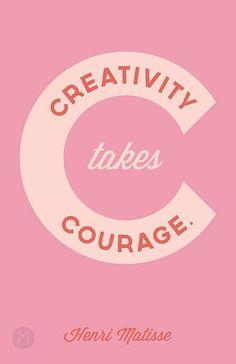 La creatividad requiere valor. @PabloCoraje #Citas #Frases #Quotes