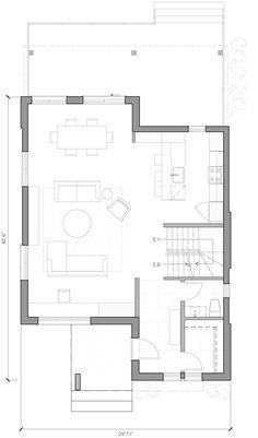 Home Design Plans, Plan Design, Perle Rare, Duplex Plans, Model House Plan, Duplex House Design, Narrow House, Home Budget, Architecture Plan