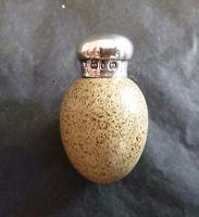 J Macintyre Egg Scent Bottle with Solid Silver Screw Top by Saunders & Shepherd