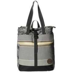 Dakine Backpack Tote 20L (Kona Stripe) Backpack Bags ($50) ❤ liked on Polyvore featuring bags, backpacks, white tote bag, convertible tote backpack, laptop tote bag, convertible laptop backpack and polka dot backpack