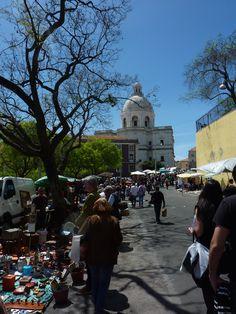 outdoor market at pantheon lisbon