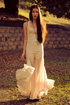 Fashion blogger Jennifer Wang spotted in Sugarlips Chiffon Jubilee Pants
