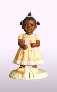 Ebony Birthday Girl Age 1 Figurine Dimension: 5″H