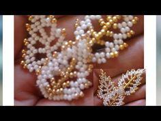 Beaded Flowers Patterns, Beaded Jewelry Patterns, Beading Patterns, Seed Bead Tutorials, Beading Tutorials, Earring Tutorial, Necklace Tutorial, Beaded Crafts, Bead Jewellery