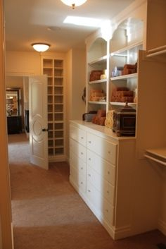 master closet - this would work in our closet! Add drawers and one more built in.