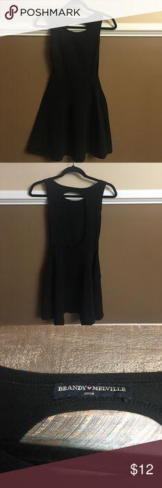 Ladies Little black dress This little black dress is great with Sandler or flip flops. Comfy stretchy Brandy 💜 Melville Dresses Mini