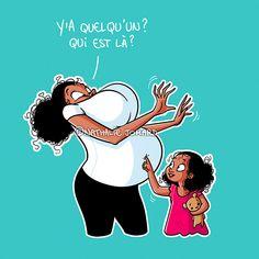 On sous-estime l'incidence de la cécité partielle angulo induite chez la gestante du troisième trimestre. #illustration #nathaliejomard #illustratrice #illustratricefrancaise #frenchillustrator #dessin #drawing #dessindrole #grossesse #futuremaman #bebe #pregnancy #baby #pregnant #femmeenceinte #funny #bd #bandedessinee #comics Illustrations, Drawing, Third Trimester, Funny Drawings, Self Esteem, Pregnancy, Comics, Comic, Illustration