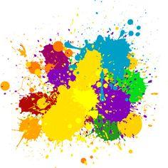 taches de peinture couleurs splash via Polyvore