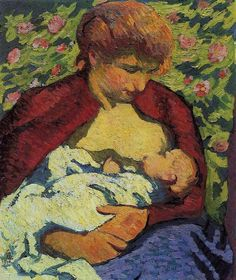 Young mother, 1910 / Giovanni Giacometti