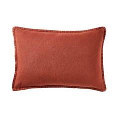 Belgian Vintage Washed Rust Long Linen Cushion