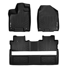 MAXLINER A0240/B0240 Black Floor Mat (for Honda Ridgeline Crew Cab 2017 Complete Set), 1 Pack. For product info go to:  https://www.caraccessoriesonlinemarket.com/maxliner-a0240b0240-black-floor-mat-for-honda-ridgeline-crew-cab-2017-complete-set-1-pack/
