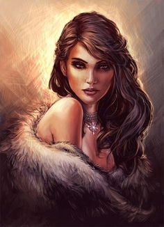 <3 The Witcher, Witcher Art, Yennefer Witcher, Fantasy Portraits, Character Portraits, Character Art, Character Ideas, Fantasy Women, Fantasy Art