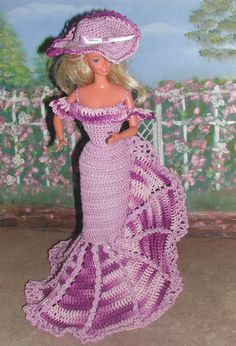 Crochet mode poupée Barbie Pattern 388 par JudysDollPatterns
