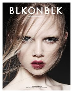 BLKONBLK Issue No.1 Holly Rose by  Thom Kerr
