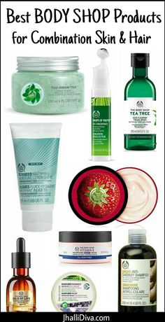 10 Best Body Shop products for combination skin & hair which is most prone to acne blackheads and huge clogged pores. While you can't get rid of oily skin forever these products can be life savior at times! Is your favorite on the list? - March 09 2019 at The Body Shop, Body Shop Tea Tree, Oily Skin Care, Skin Care Tips, Dry Skin, Skin Tips, Best Body Shop Products, Beauty Products, Facial Products