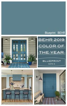 New front door color? Highlight of the 2019 Colors of the Year from the paint manufacturers color forecasts including Sherwin Williams, BEHR, PPG, Ace Hardware and Dutch Boy. House, Bedroom Paint Colors Master, House Exterior, Exterior House Colors, New Homes, Door Paint Colors, Room Colors, Master Bedroom Paint, Popular Paint Colors