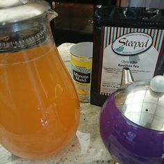 Christa Jones made some delicious Cherry Pie Lemonade with loose leaf Cherry Pie Rooibos. Refreshing. :)