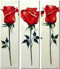 These would make lovely bookmarks with a single red rose