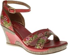 Spring Step Tribute in Red Leather from PlanetShoes.com