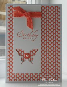 The card I am sharing with you today… is a great card to make using any small patterned designer series paper. Here's what I used: Stamps: sincere salutations Card/Paper: designer series paper &am...