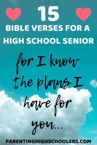 Bible Verses to Encourage High School Seniors Senior Year Of High School, High School Seniors, Parenting Teenagers, Parenting Quotes, Senior Ads, Best Bible Verses, I Know The Plans, Teen Life, Scholarships For College