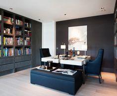 Elegant double desk Transitional Home Office