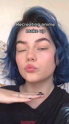 Punk Makeup, Dope Makeup, Anime Makeup, Edgy Makeup, Crazy Makeup, Pretty Makeup, Makeup Looks, Hair Makeup, Makeup Videos